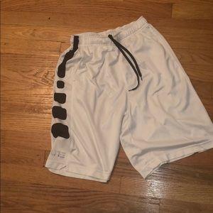 Nike elite boys shorts m medium white black